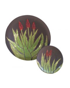 Black Finish Blooming Aloe Bowl
