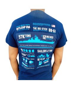 Adult Battleship IOWA Infographic Tee