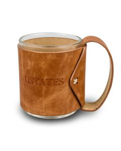 USTATES Mug with Vegan Leather Handle