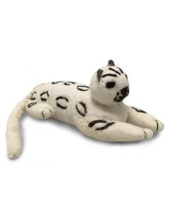 Felted Snow Leopard Doll