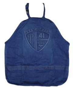 USS Midway Embossed Logo Apron