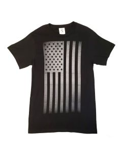 Adult USA Flag B&W T-Shirt