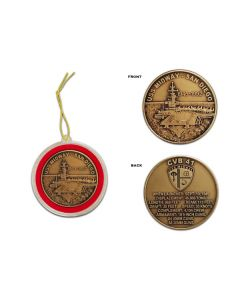 Bronze USS Midway Coin Ornament