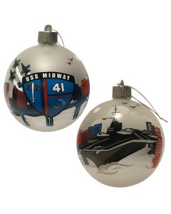 USS Midway Holiday Ornament