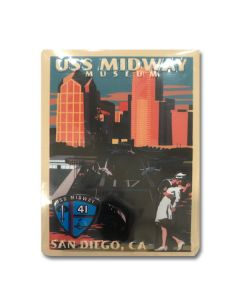 USS Midway Retro Magnet