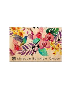 Orchids Wooden Magnet