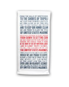 USMC Hymn Tea Towel