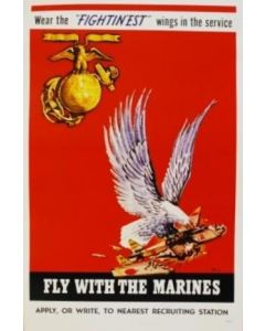 Fly With The Marines Poster - in sleeve