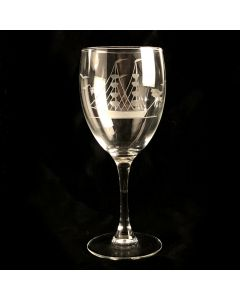 Clipper Ship Goblet Wine Glass