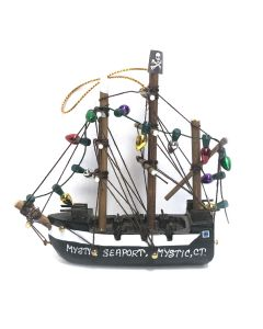 Pirate Ship with Lights Ornament