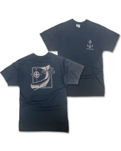 Adult Whale and Compass Tee