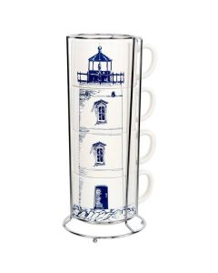 Lighthouse Stacking Mug Set